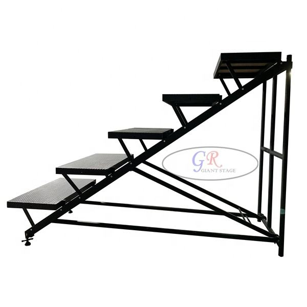 Step stairs choral riser Black aluminum stage for sale