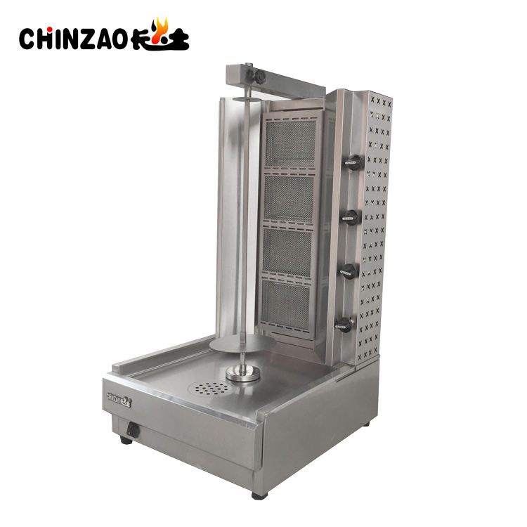 China Leverancier Doner Kebab Machine LPG Gas Shoarma Machine Grill Vlees