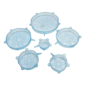 Eco-Friendly And 100% Platinum Food Grade BPA Free Stretch Lids Silicone Food Storage Lids Covers