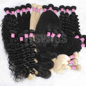Yeswig Wholesale Hair Products For Black Women Cuticle Aligned Malaysian Bundles Double Weft Hair Human Virgin Donor Extension