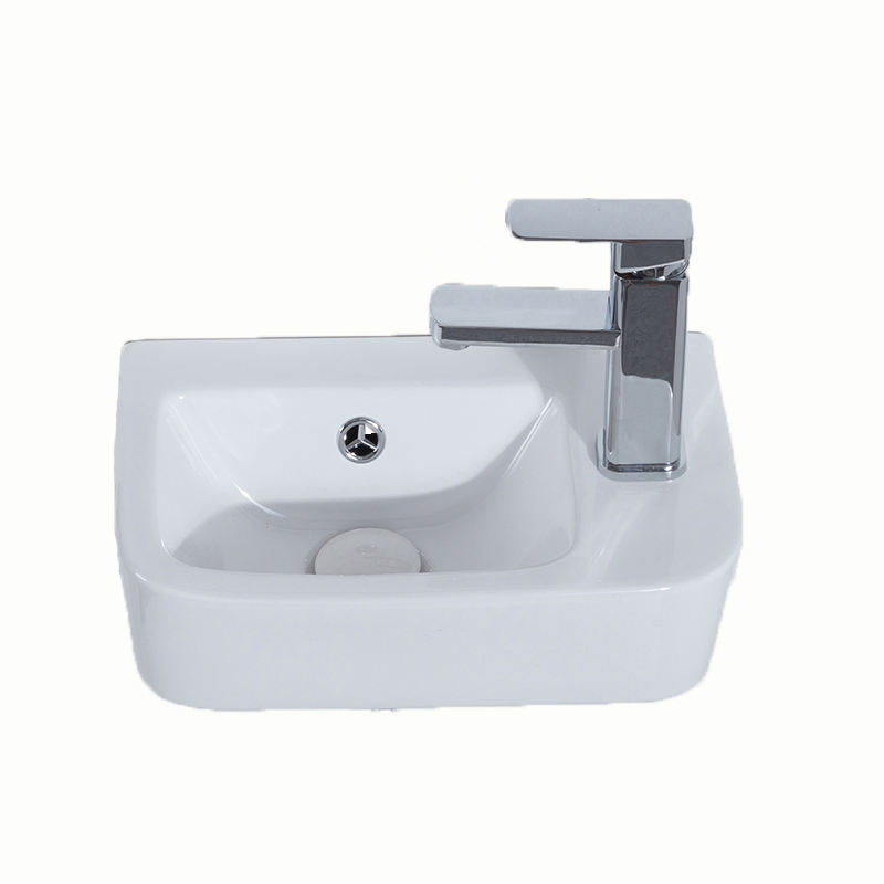 High quality wall hung lavabo square ceramic small wash hand basin for bathroom