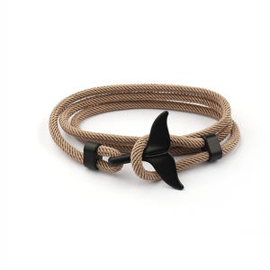 BM3005 Whale Tail Rope Bracelet, Dolphin, Fish Tail Dolphin Fin Umbrella Rope Bracelet