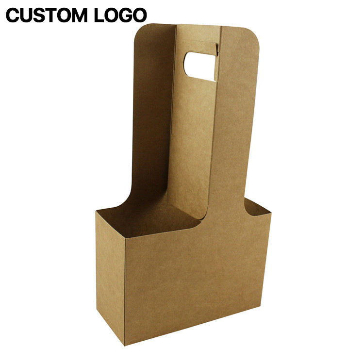 Wine Paper Bag With Nylon Ribbon Gift Packing Box Single Double Bottle Bag Portable Wine Oil Bottle Carrier Package