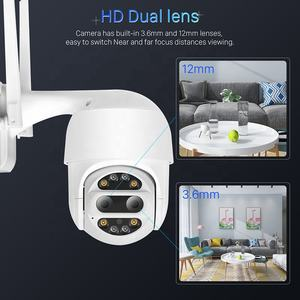 BESDER Penuh HD 1080P Dual Lensa Wifi PTZ Pengintai Outdoor Auto Tracking Speed Dome CCTV Wireless Keamanan Kamera