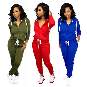 custom women tracksuit two piece set hoody sweatsuit