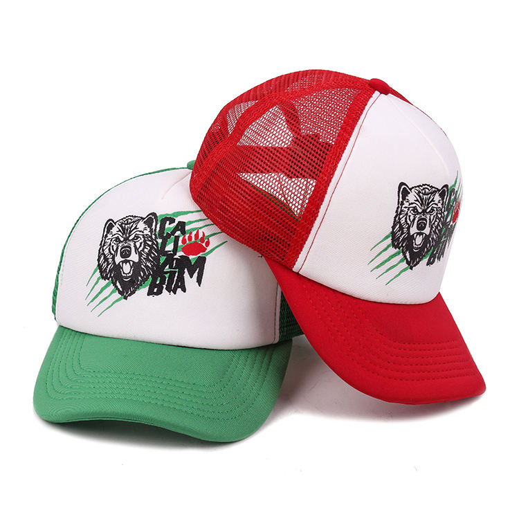Customize Fancy Printing Design Reasonable Price Foam And Mesh Trucker Baseball Cap