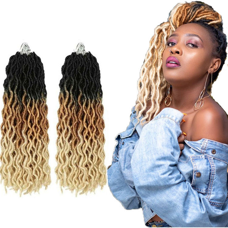 Cheap Wavy Gypsy Locs Crochet Hair Extensions Gypsy Wave Locks Braiding Hair Mixed Color Synthetic Fiber Wholesale Price
