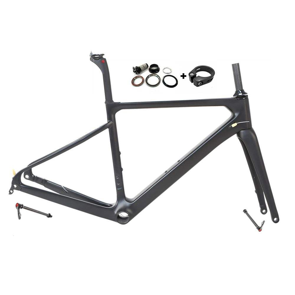 Chinese oem 700c carbon gravel road bike frame thru axle 12*142mm disc brake bicycleframe