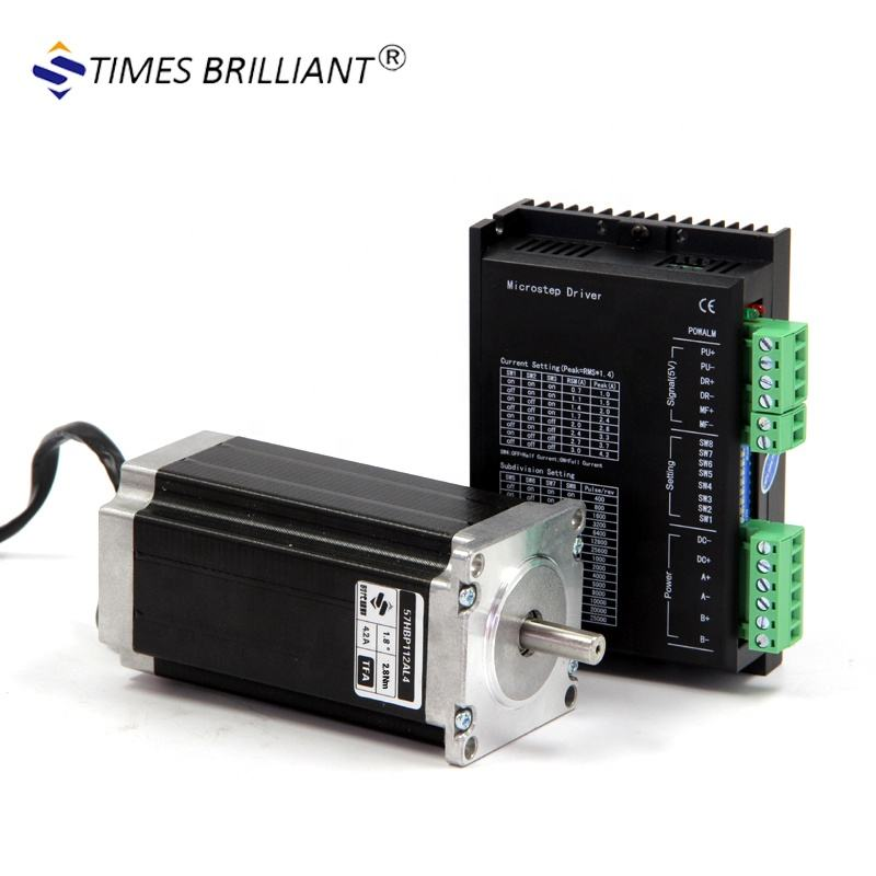 China supplier 2phase Hybride high torque 2.8Nm and current 4.2A nema 23 stepper motor and driver kit for cnc Machine