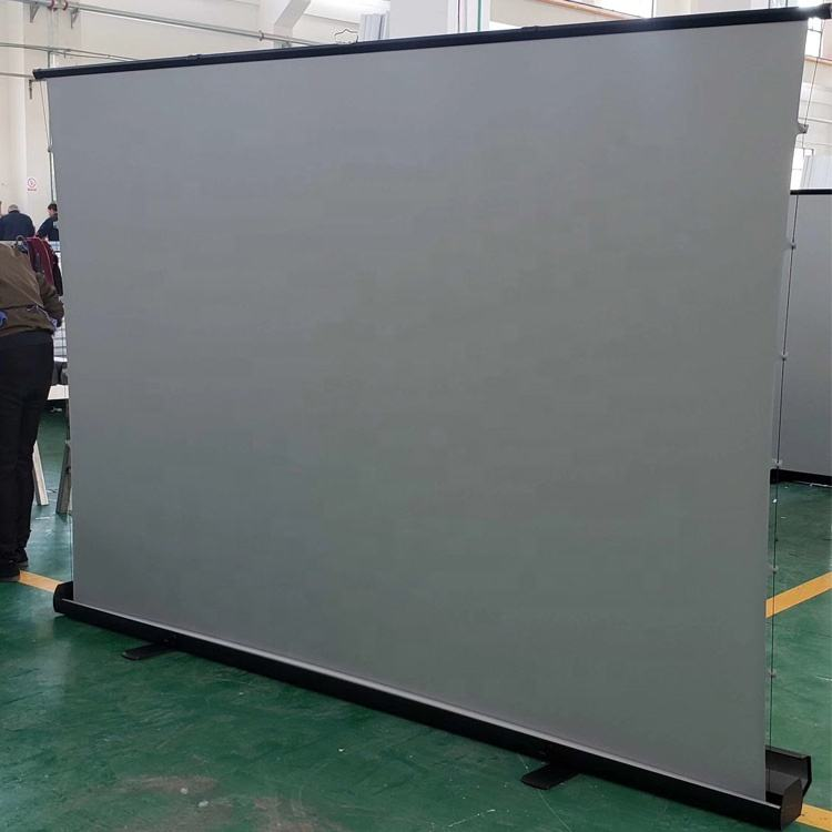 High-end100 inch Floor stand projection screen Outdoor indoor pull up cinema projector screen for UST alr projector