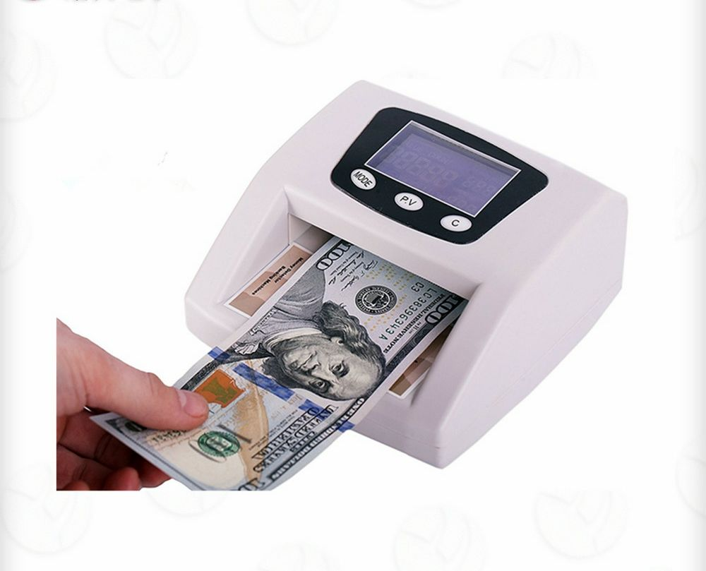 Automatic USD EURO GBP counterfeit bill fake money detector with LCD display