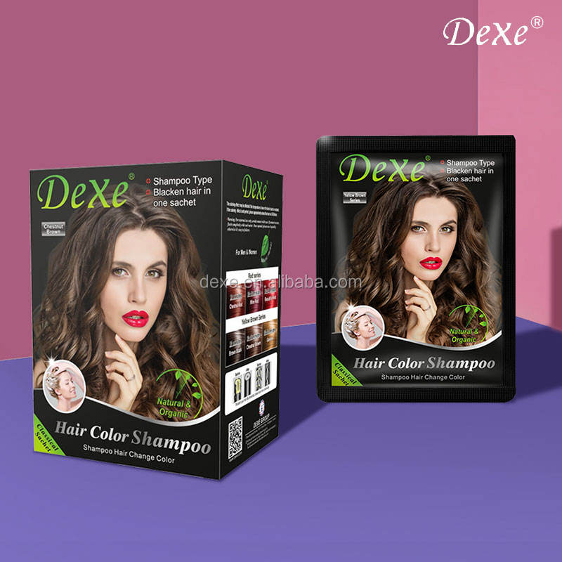 Wholesale Ginseng Professional Shampoo Based Hair Dye Cream Hair colour Shampoo