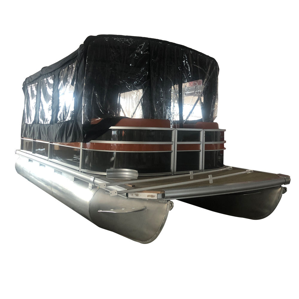 25FT Party Pontoon Boat for Tourist with Enclosed Tent