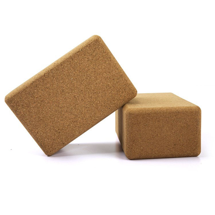 3*6*9 Inch Natural Wooden Brick Set Cork Yoga Block Eco Friendly