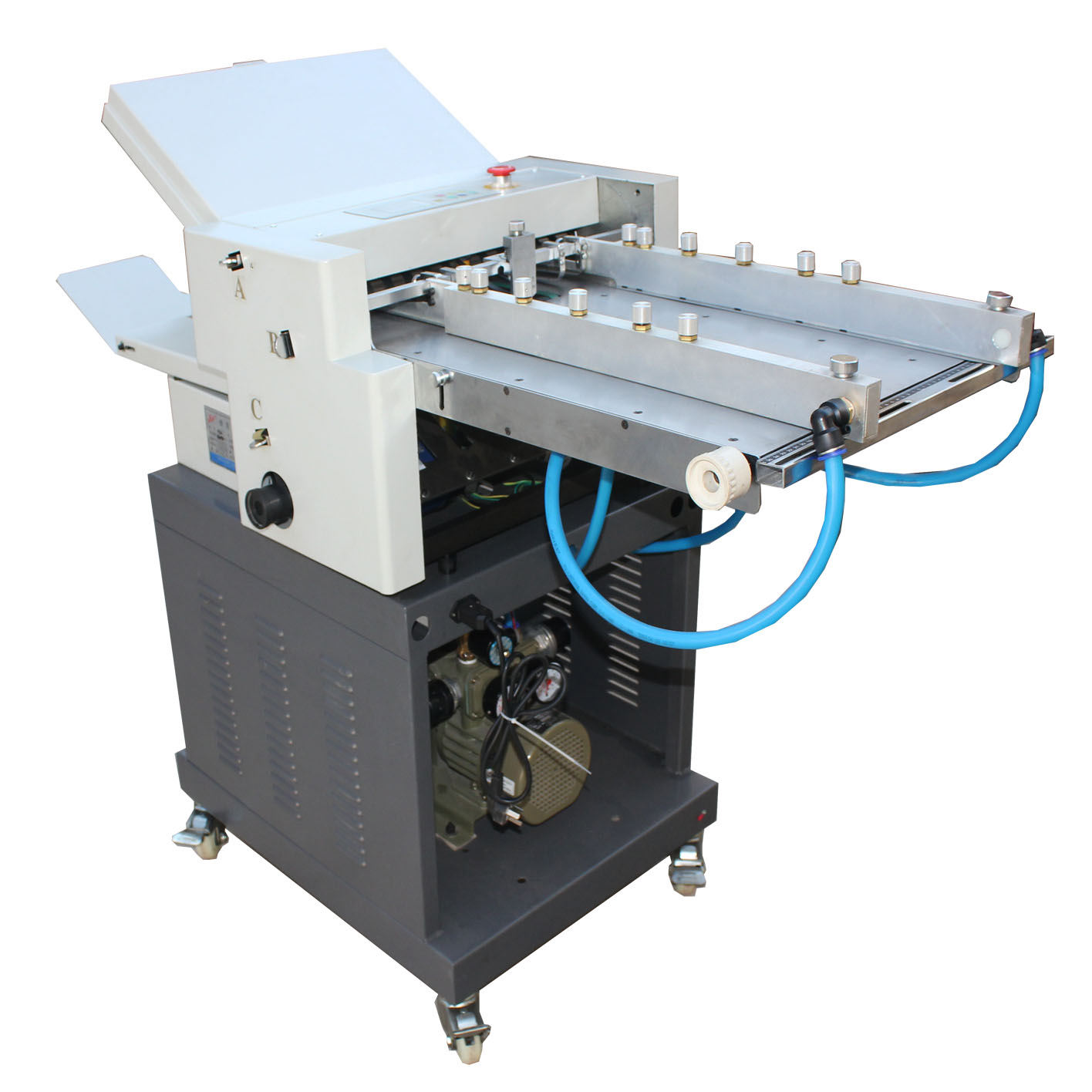 Four folding tray automatic paper folding machine for card