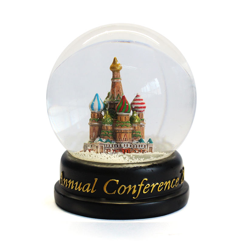 Wholesale Custom Resin Snow Globe With Castle Inside Water Ball For Decoration