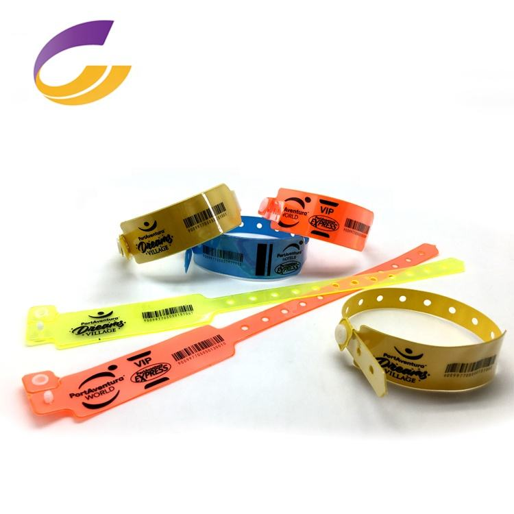 disposable Vinyl ID Wristband /bracelets/promotional wrist band