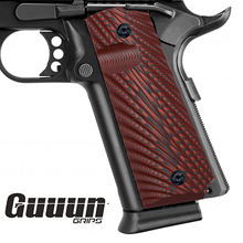Guuun 1911 Grips Full Size Government Commander G10 Grips Ambi Safety Cut Aggressive Starburst Texture Pistol Gun Grips