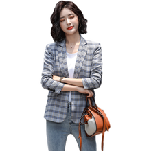 Female casual coat fashion business wear female charming clothing plaid suit for office workers