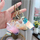 Wholesale high quality harmless clean Acrylic charm milk tea shape key chain holder stand accessories
