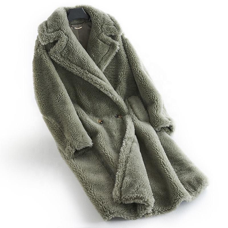 Teddy cappotto inverno delle donne allentate casuali peluche Teddy Bear lungo cappotto oversize in pile spessore caldo Outwear Faux Fur Giacche