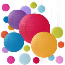 NICRO Wholesale Chinese Oem Color Size Party Decoration Hanging Round Paper Lantern