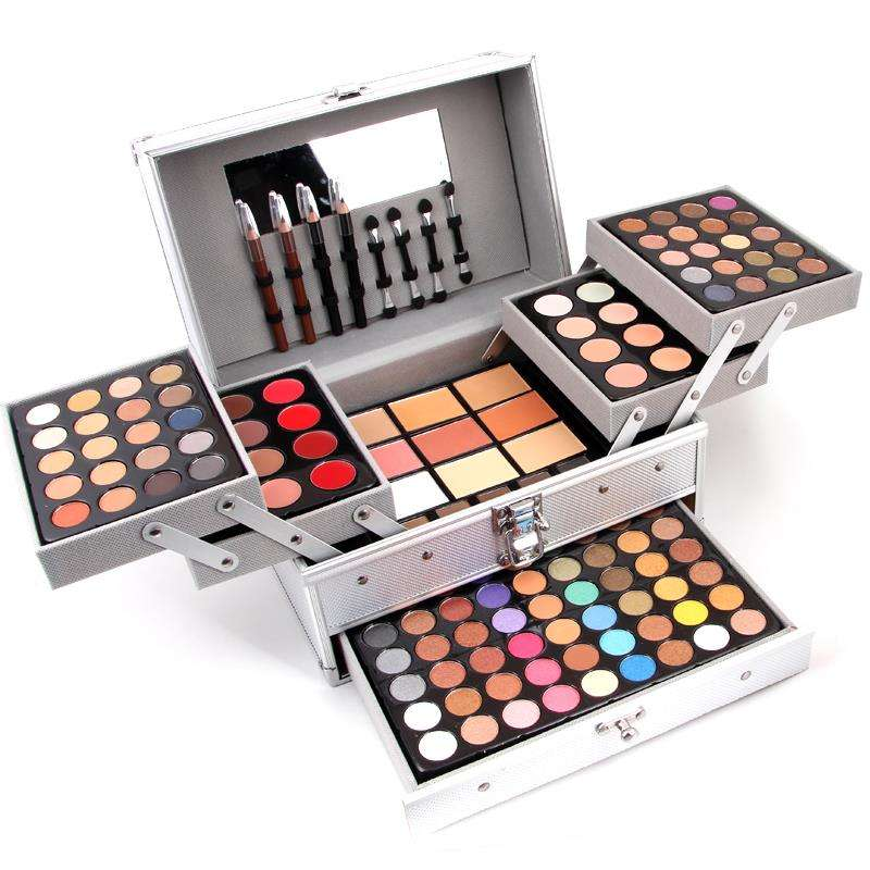 Ready To Ship 133 colors Professional Miss Rose Aluminum box Makeup Palette Set