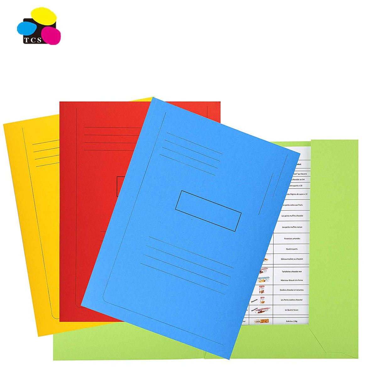 Hot Selling Office School Elastic Banded 350G Pressboard 3-Flap Folder With 10 Packed For Practical Document