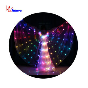 NEW Arrival LED Pixel Colorful LED Isis Wings Costume For Belly Dance