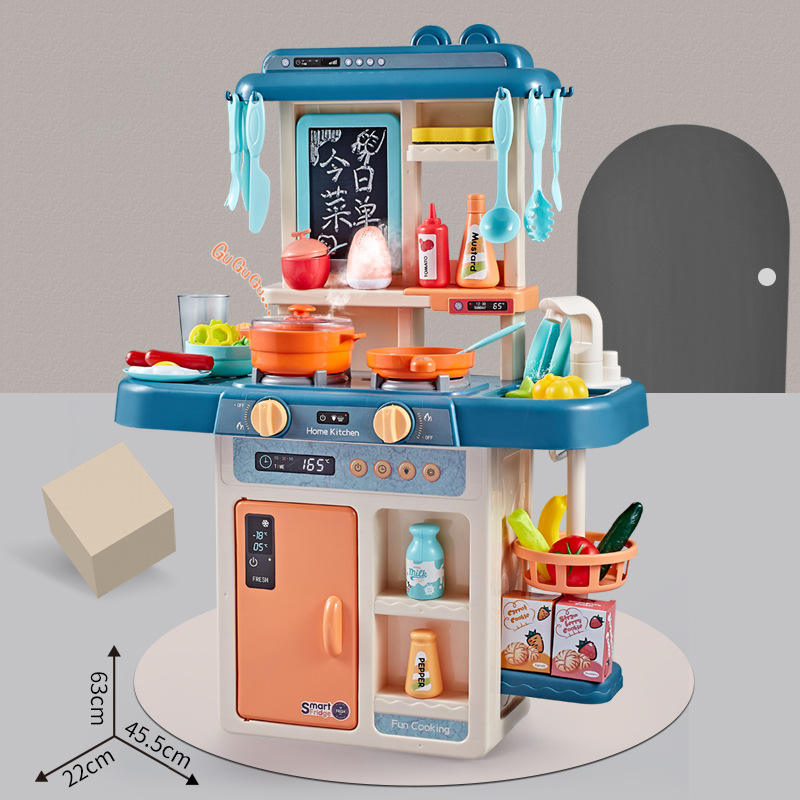Spray kitchen simulation steam out of water cooking kitchen toys with lighting sound for boys and girls cooking toys