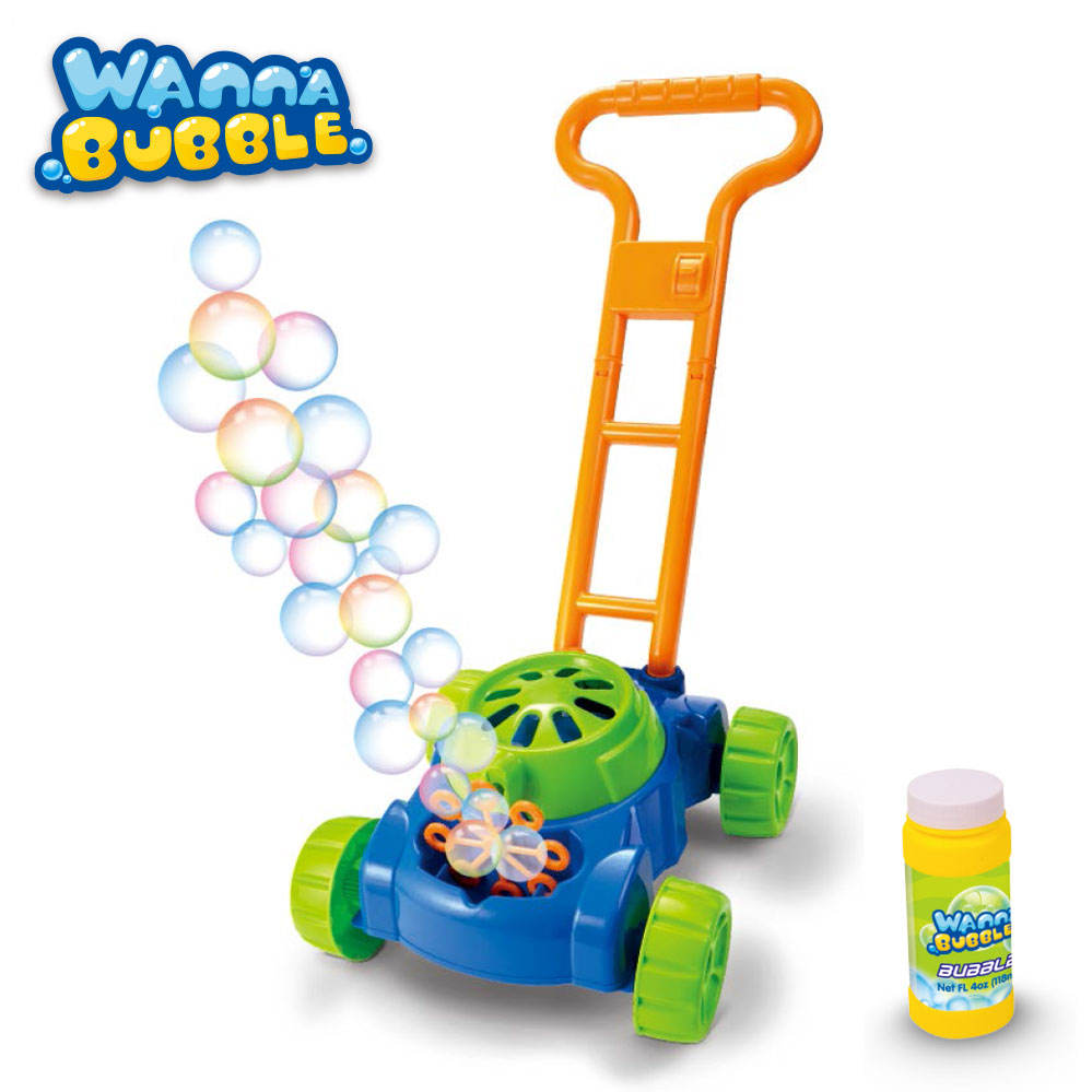 Electronic walker bubble machine outdoor play games colorful lawn mower bubble maker toy