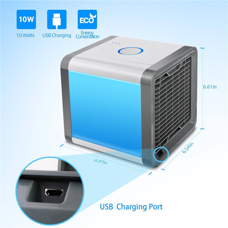 USB Rechargeable Air Cooler Amazon hot sale Personal mini room water cooler fan LED display home use air conditioner