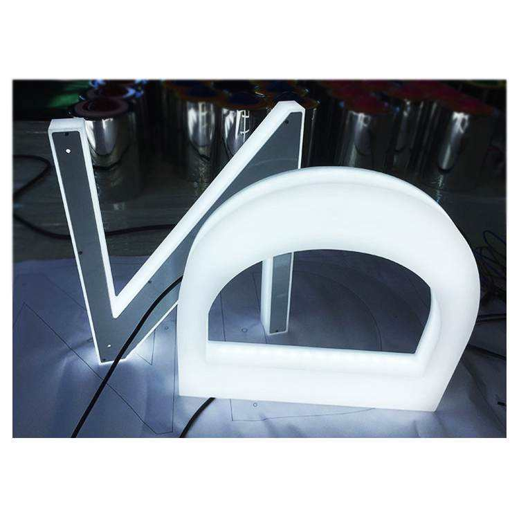 Custom Office Wall 3D Acrylic Outdoor Display Led Signage Letter