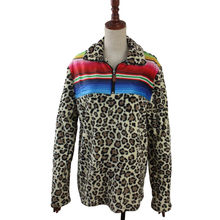 Fashion Personalized Kids Women Plush Serape Patch Leopard Pullover