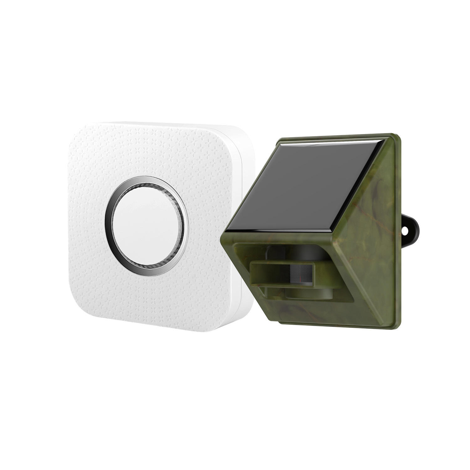 Outdoor Weather Resistant PIR Infrared Motion Sensor with Door Chime, Solar Wireless Driveway Alarm