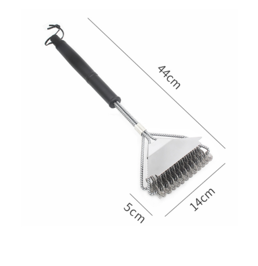 3 WAY BARBECUE BBQ CLEANING WIRE BRUSH GRILL CLEANER SCOURER PAD SCRAPING BBQ15