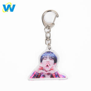 Oneway Custom Printed cheapest price wholesale photo picture Acrylic Keychains/Keyring with photo