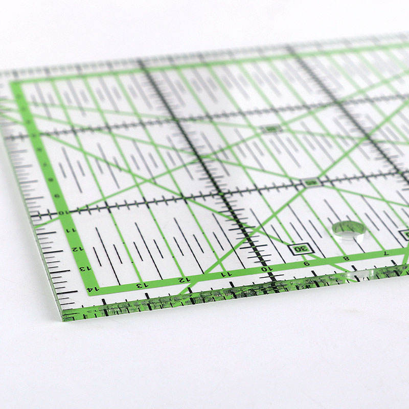China supply ECO-Friendly acrylic square patchwork quilting promotional ruler for home sewing