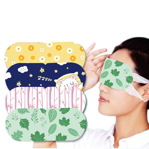 Best selling rose heat sleep steam hot compression eye mask pad for eye strain