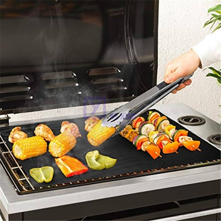 Customized Size 50cm x 40cm Reusable BBQ Grill Mat Hotplate Liner Oven BBQ Cooking Grill Mat