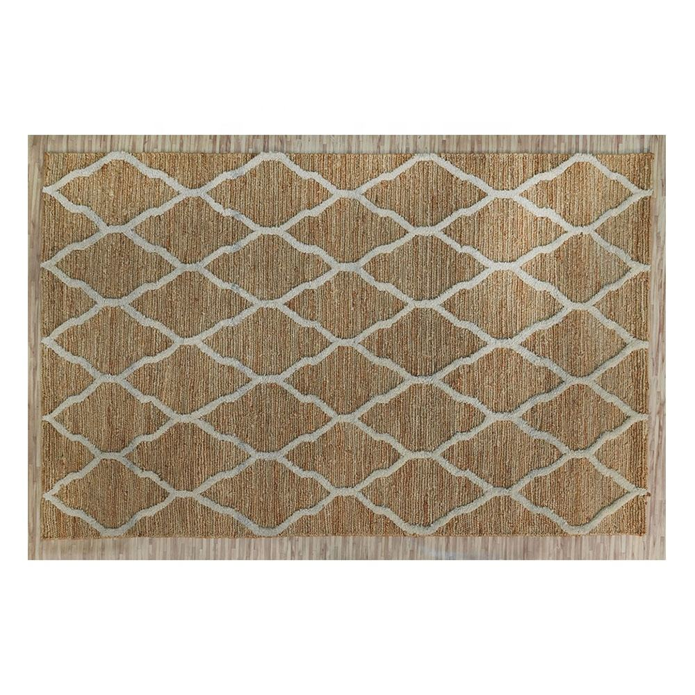 MANUFACTURING CARPETS HAND KNOTTED JUTE SOUMAK WITH WOOL PILE CARPETS KITCHEN MAT SET