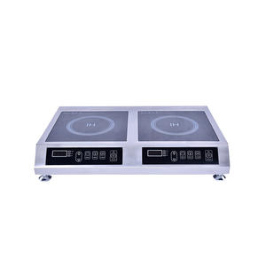Commercial electric 3500 watt electromagnetic cook stove  commercial induction cooker with 2 burner