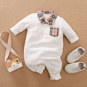 Wholesale Baby Casual Romper Boy Onesie for Autumn Baby Jumpsuit
