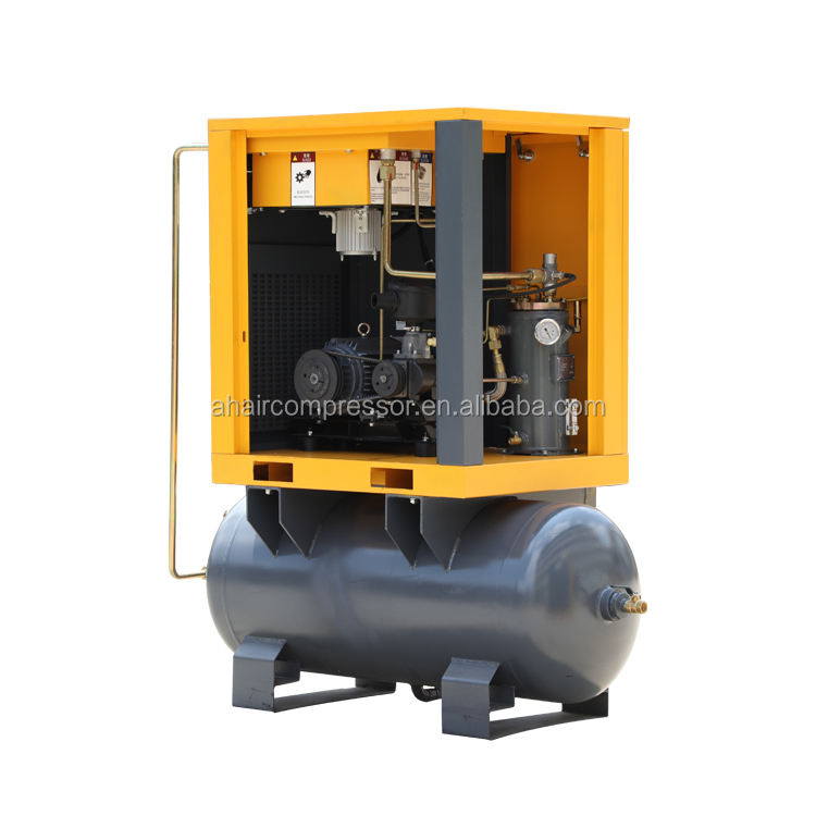 Lubricated [ Compressor Pump ] Compressor Pump 5kw 750L/min Mini Electric Gas Air Compressor Pump With 300l Air Tank