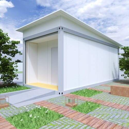 cheap prefab portable folding container house