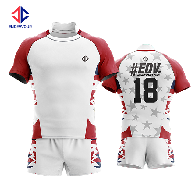 Factory direct selling custom reversible rugby jersey wear and rugby shorts