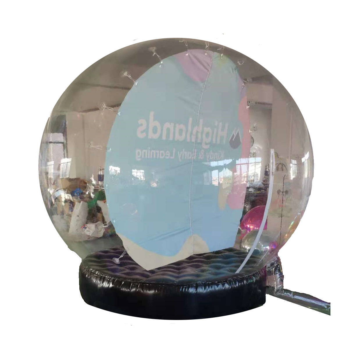 Human custom PVC cheap snow globe giant Christmas inflatable snow globe for sale