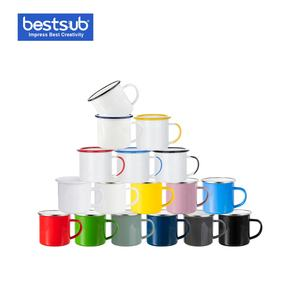 Bestsub High Quality Stainless Steel Cup Wholesale Custom Logo Sublimation Printing Coffee Camping Enamel Mug
