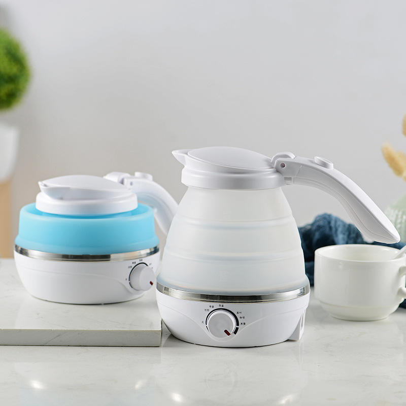 High Quality Travel Mini Silicone Portable Foldable Electric Collapsible Electric Kettle