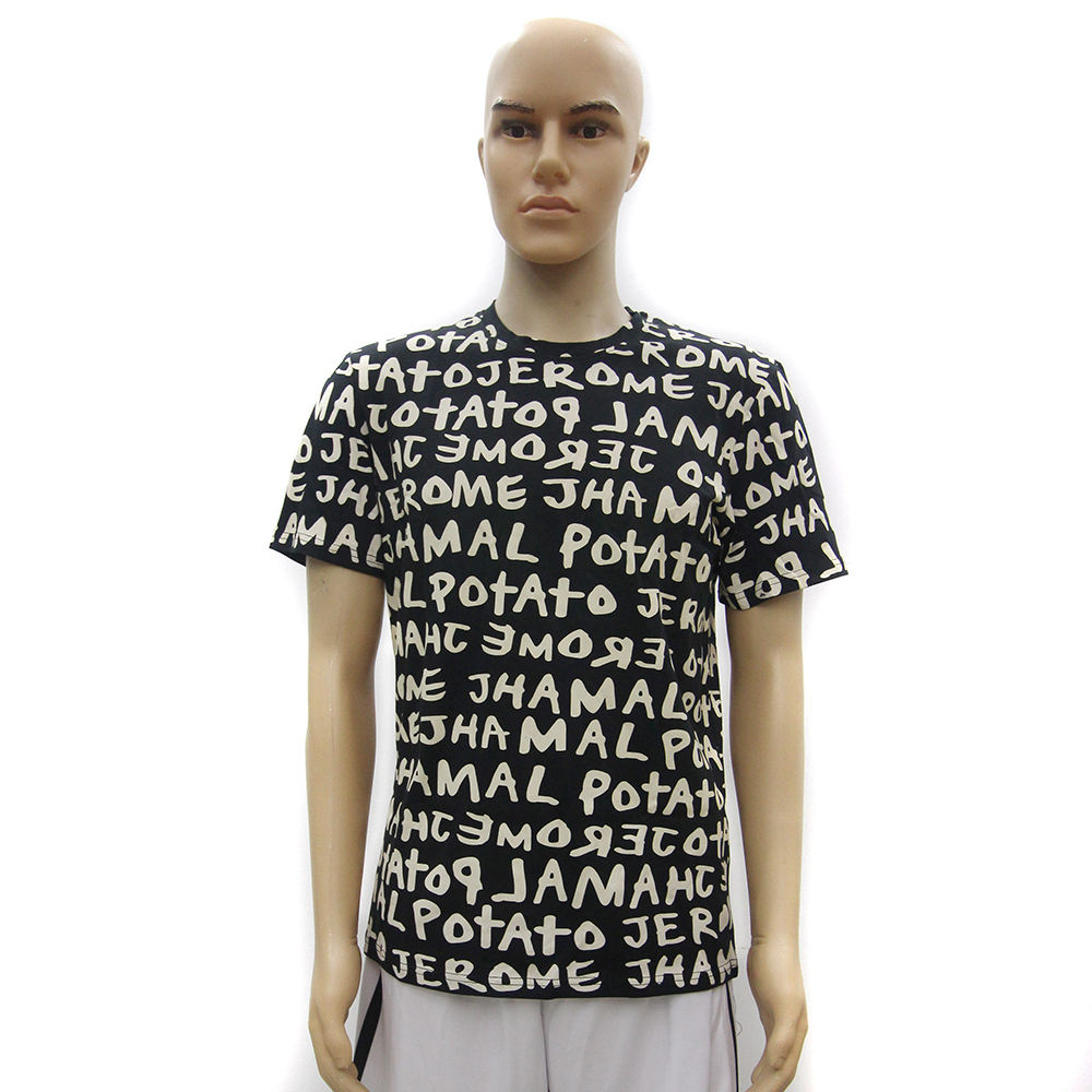 Black All Over Print T-Shirts Custom T Shirt Printing